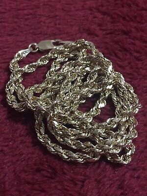 Yellow Gold 10 Kt Rope Chain Lobster Lock 24 Inches 3mm