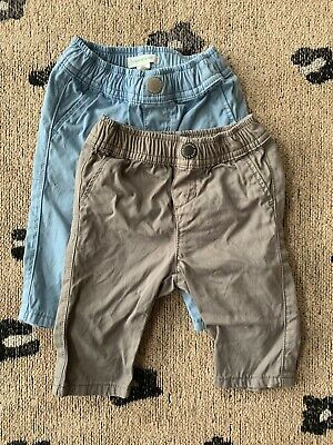 Country Road Baby Boys Chinos X 2 Size 3-6 Months EUC