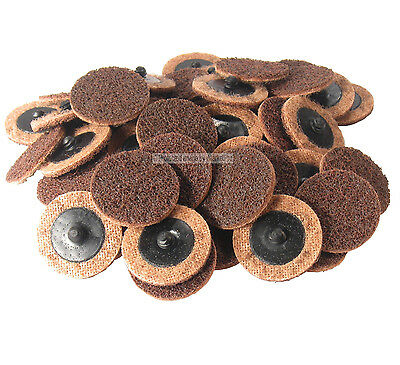 Wisconsin Abrasives 50-Pc 2-Inch Fine Roll On Lock Surface Conditioning Quick Change Disc