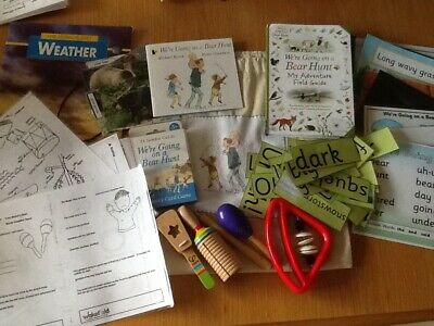We're Going on a Bear Hunt story sack, teaching / Home Schooling Resource Pack