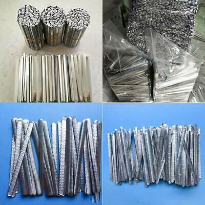 100PCS/Pack 0.5*5*85mm Aluminum Bridge of Nose Strip DIY Accessories Silver