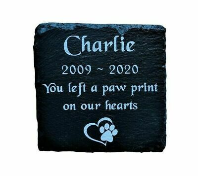 Personalised Engraved Pet Memorial Slate Stone Headstone Grave Marker Plaque Dog