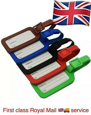 5 X Travel Luggage Bag Tag Name Address ID Label Plastic Suitcase Baggage Tags D