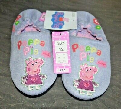 Fab Girls Peppa Pig Slippers Size Uk Junior 12 - In Perfect Condition, Bnwt