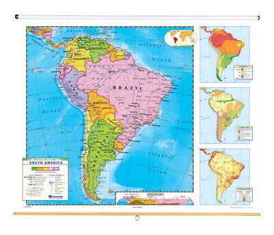 Nystrom Political Relief Map, South America