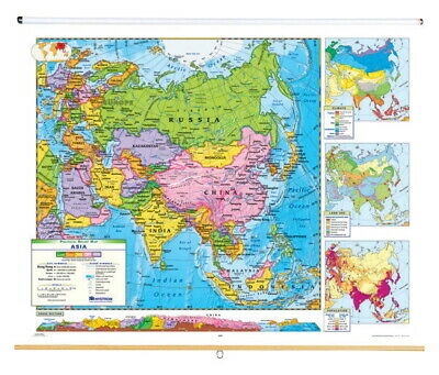 Nystrom Political Relief Map, Asia