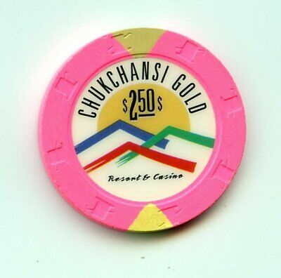 2.50 Chip from the Chukchansi Gold Casino Coarsegd California
