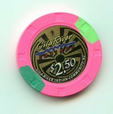 2.50 Chip from the Gila River Casino Multi Locastions Arizona
