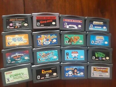 Big GameBoy Advance Game Bundle,16 games,NES Classic 150 in 1,Mario,Sonic,Rayman