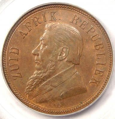 1898 South Africa Zar Penny - PCGS MS63 - Rare BU MS Certified Coin!