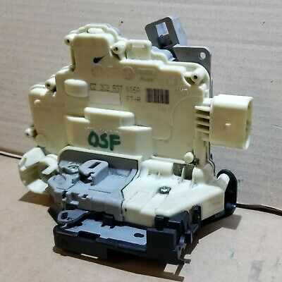 Vw Passat B6 B7 Front Right Door Lock Mechanism Driver Side Osf 3C2837016A  33