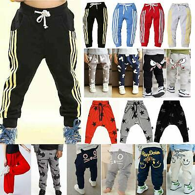 Kid Toddler Boy Girl Sweatpants Loose Harem Trousers Casual Sport Jogger Bottoms
