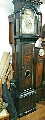 Early Longcase Clock.John White  London 5 piler movment.Green Lacquer Case. 1750