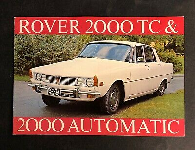 Vintage ROVER 2000 TC & 2000 Automatic Brochure 1969 - Very Nice!