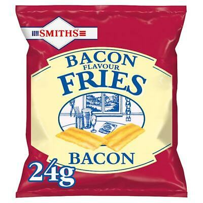SMITHS Bacon Fries Bacon Flavour Snacks Crisps 24 x 24g Bags Packets