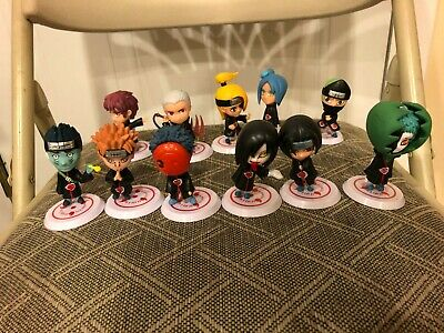 Naruto Akatsuki Members Anime Mini Action Figures 11 Pcs