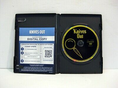 Knives Out DVD with Digital Copy. in Plain Case, No Artwork.
