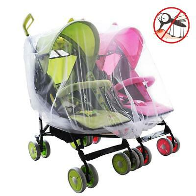 Mosquito Net Fly Insect Prevention Portect Cover Mesh Fr Baby Twin Stroller Pram