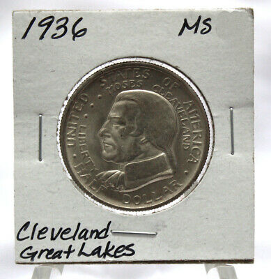 UNC 1936 Great Lakes Expo (Cleveland) Commemorative Silver Half Dollar (COM272)