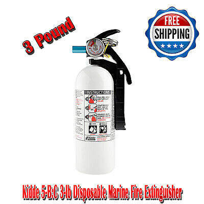 Kidde 5-B:C 3-lb Disposable Marine Fire Extinguisher, Truck Safety Emergency Car