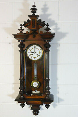 Antique Wall Clock Antique German Wall Clock Regulator Mahogany Wood