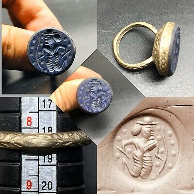 I BEAUTIFUL LATE MEDIEVAL ISLAMIC OTTOMAN RING WITH Lapis STONE