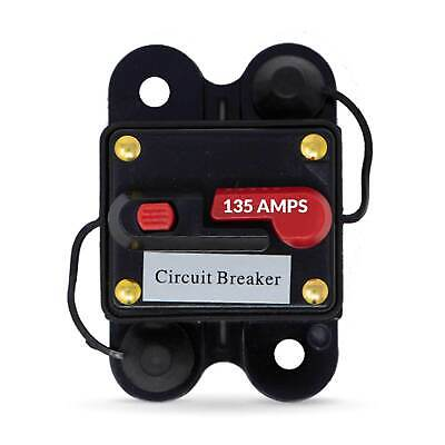 135 Amp Anchor Windlass Circuit Breaker w/ Manual Reset Button, 12V