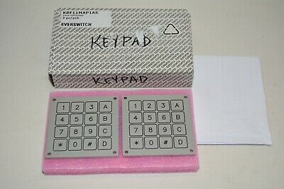 Lot 2x Everswitch Stainless Steel Keypad KBF11MAP1AS