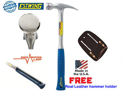 Estwing 24oz Straight Claw Framing Hammer SHOCK REDUCTION Handle FREE Holster
