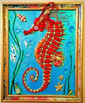 Jewelry Framed Seahorse Art Decor Gift