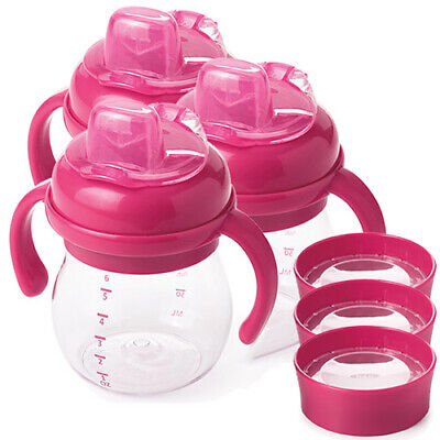 OXO Tot Soft Spout Sippy Cup Set - Raspberry - Triple Pack