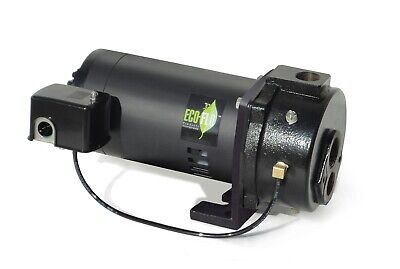 Convertible Deep Well Jet Pump Water Pressure EFCWJ10 ECO FLO 1 HP Switchless