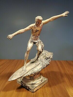 RARE Vintage Surfing Trophy HAWAIIAN SURF RIDER Hawaii Car Ornament Duke