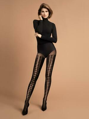 FIORE SIMONETTA 3D PATTERNED  TIGHTS PANTYHOSE  4 SIZES 2-3-4 AND XL