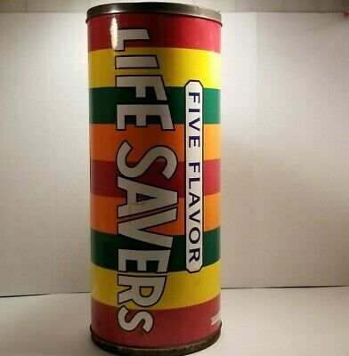 Vtg 1996 Five Flavor Life Savers Candy Advertising 24 `` Collectible Container