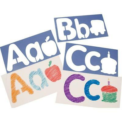 """Roylco Big Alphabet and Picture Stencils - 6"""" - Uppercase Letter, Lowercase..."""