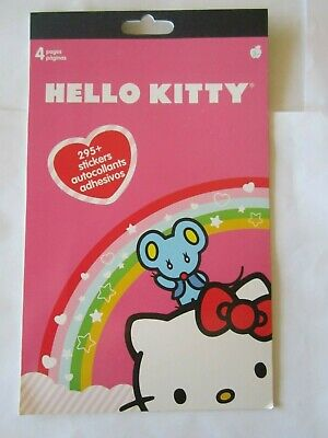 Hello Kitty 295+Stickers Sanrio Autocollants 4 Pages Kids Girls Boys, NEW