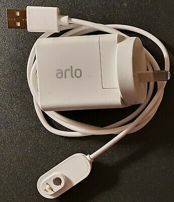 2x Arlo Ultra or Pro 3 Indoor Magnetic Charging Cable 90cm & Wall Plug Adaptor