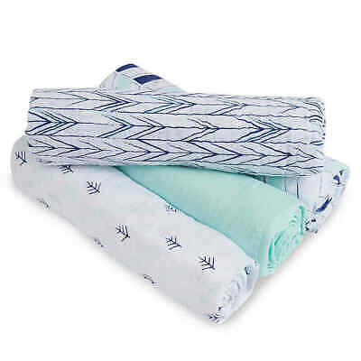 New Aden by Aden + Anais Indigo Trail 4-Pack Swaddleplus Blankets