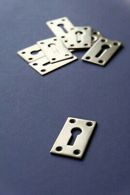 """Polished brass rectangular keyhole ESCUTCHEON 1"""" x 1 3/4"""" several available"""