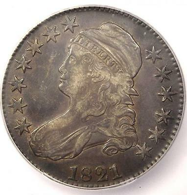 1821 Capped Bust Half Dollar 50C - ICG XF45 (EF45) - Rare Date - Certified Coin