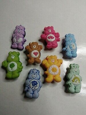 Care Bears Characters 8pc Set SHOE CHARMS LOT FOR CROC SHOES JIBBITZ BRACELET