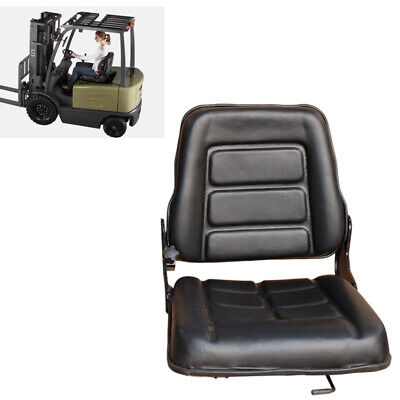 Us Black Pu Seat Forklift Clark, Cat, Fit For Hyster,Yale,Toyota,Nissan!