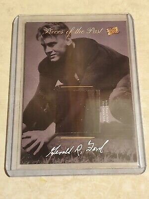 2018 Pieces of the Past President Gerald Ford Michigan Football Player Relic