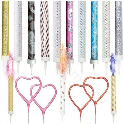 Cake Fountain Candles Toppers Sparklers Birthday Baby Shower Wedding Cake Decor