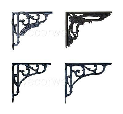 Antique Cast Iron Shelf Brackets Black Wall Vintage Victorian Antique Single