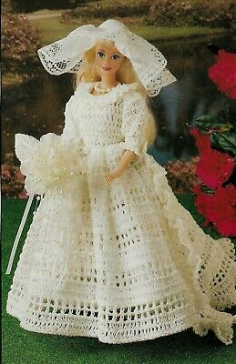 VINTAGE Wedding//Formal Gown//Fashion Doll//Crochet Pattern INSTRUCTIONS ONLY