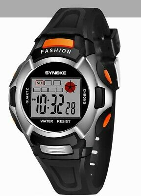 children's watch boy & girls, kids in black, digital watch SYNOKE Fashion watch