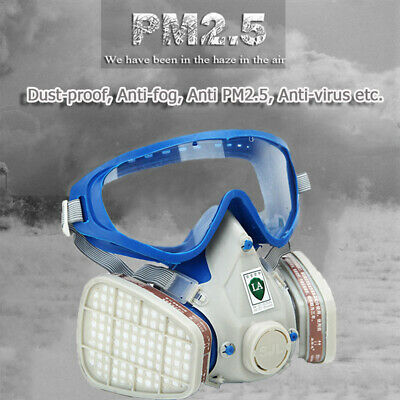Emergency Survival Respiratory Gas Goggle Breath Dual Protect Industrial Filter
