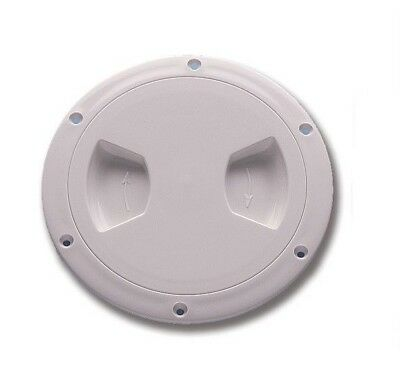 ACCESS HATCH INSPECTION COVER 1//4 turn to lock. 200X150mm LRG WHITE PLASTIC